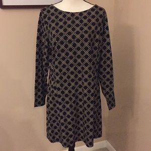 NWOT Boden Mia jersey Black & Tan tunic/dress, 14